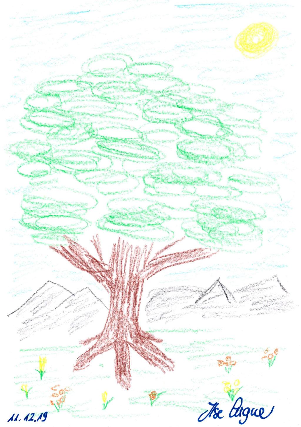 """Bild Aigner, Ilse, """"Ohne Titel"""", 30x21 cm, Buntstift auf Papier"""