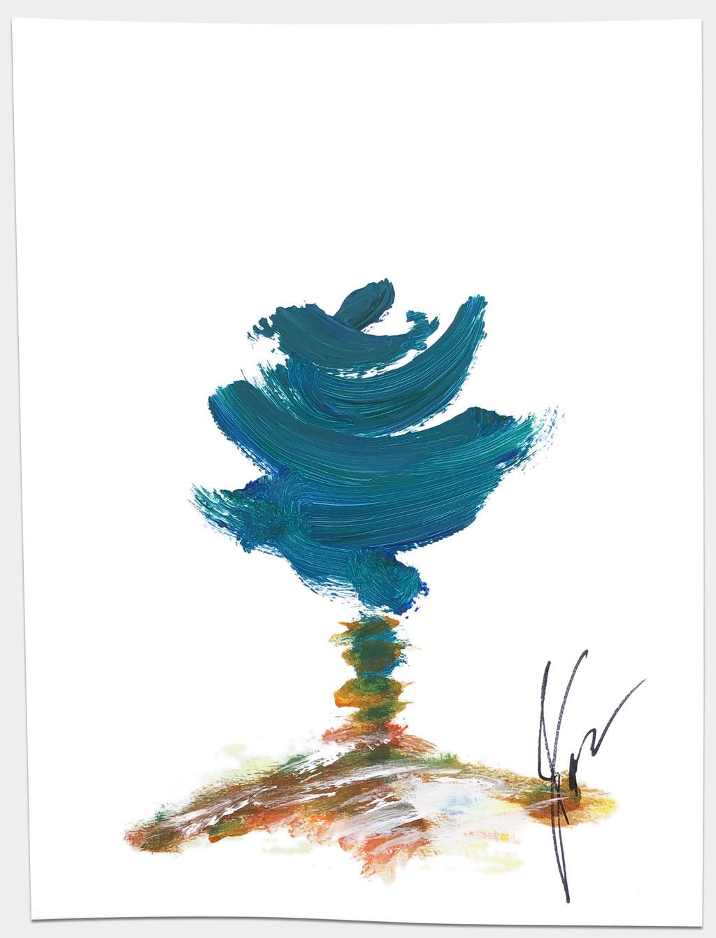 """Brandner, Michael, """"Ohne Titel"""", 49x36 cm, Acryl auf Papier"""