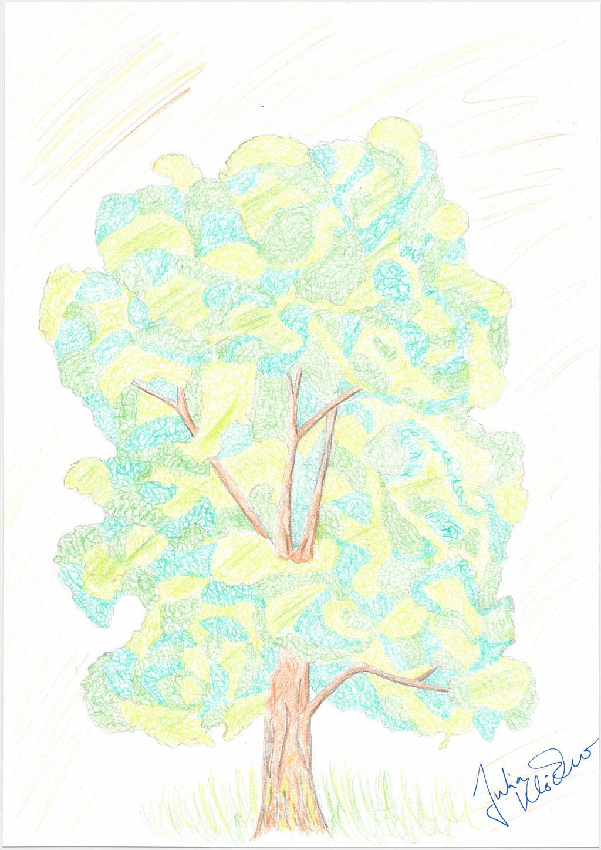 """Klöckner, Julia, """"Ohne Titel"""", 42x30 cm, Buntstift auf Papier"""