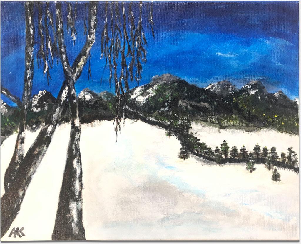 "Kramer, Ann-Kathrin, ""Ohne Titel"", 40x50 cm, Acryl auf Leinwand, Keilrahmen"