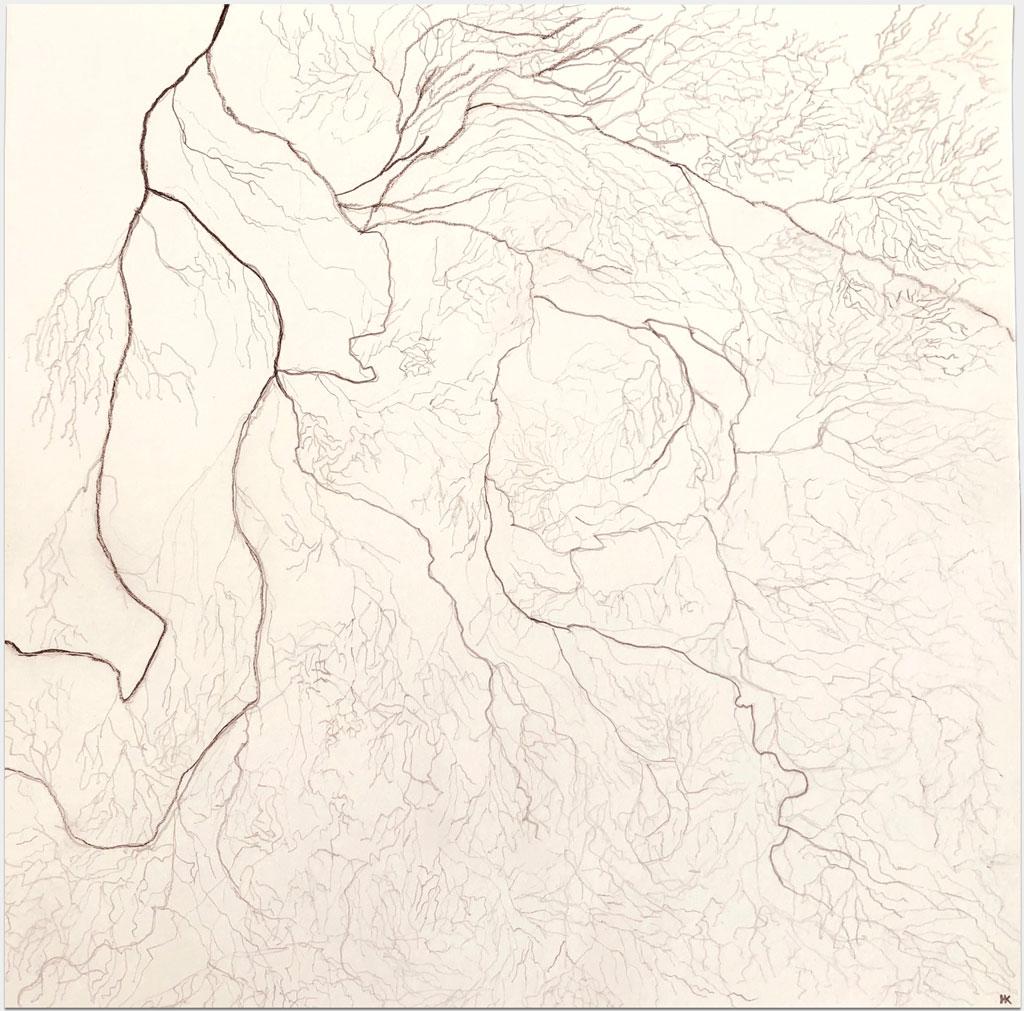"""Krassnitzer, Harald, """"Ohne Titel"""", 20x20 cm, Bleistift auf Papier"""