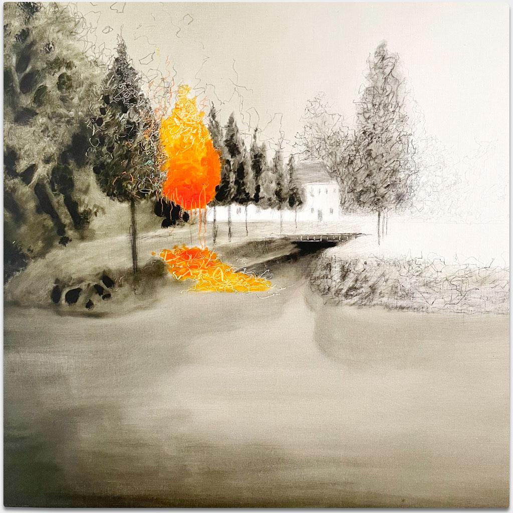 """Oleinikov, Igor, Künstler, """"Ohne Titel"""", 90x95 cm, Acryl"""