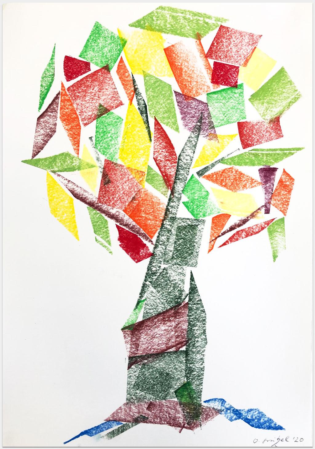 """Stritzel Oliver, Schauspieler, """"Ohne Titel"""", 42x30 cm, Pastell auf Papier, handsigniert"""
