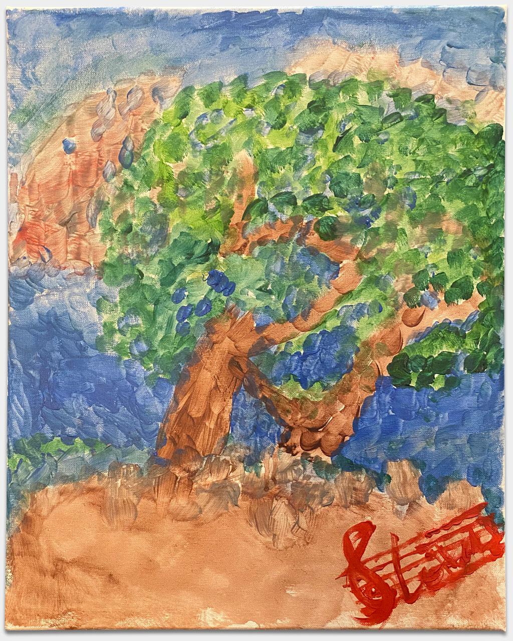 """Nasturica-Herschcowici, Lorenz, Leiter Kammerorchester Münchner Philharmoniker, """"Mediterranean Skies"""", 70x50 cm, Acryl auf Leinwand, handsigniert"""
